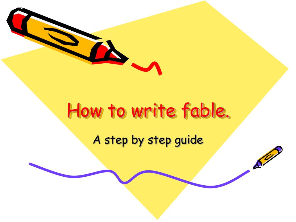 how to write fable l.