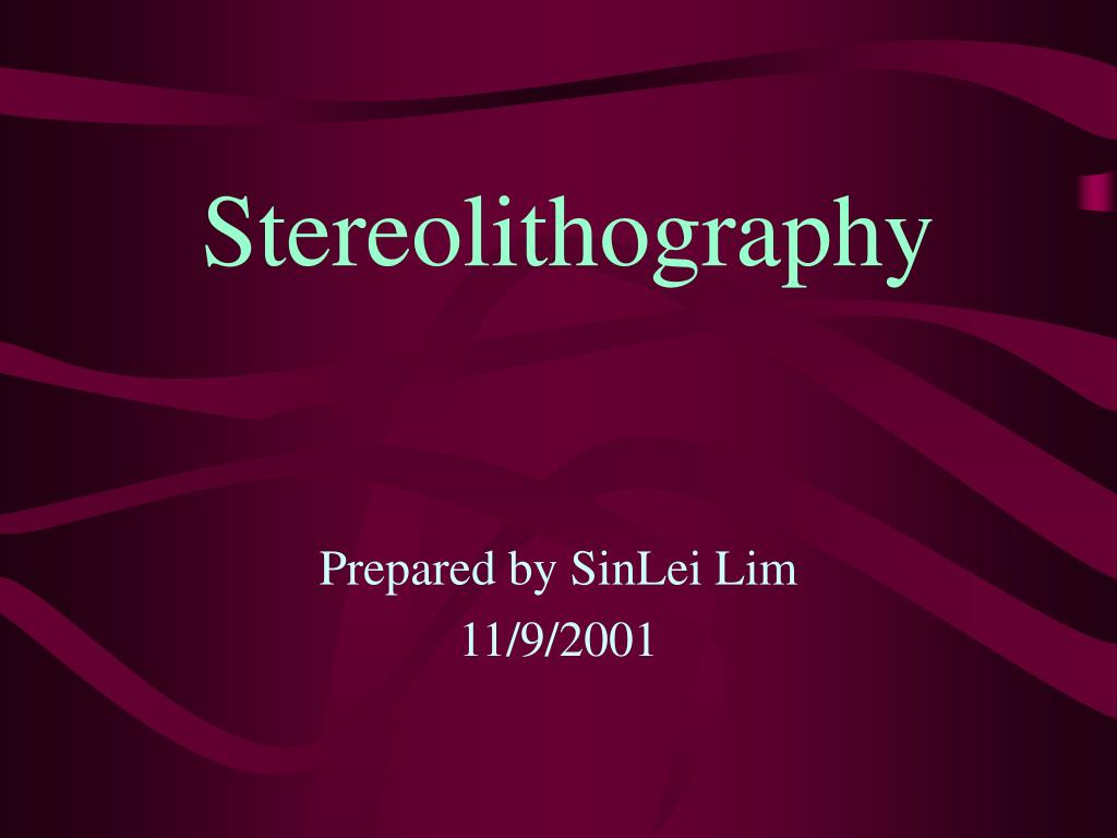 stereolithography l.