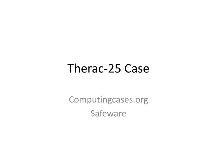 therac 25 case n.