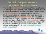 issue ii the picturesque aestheticization of nature17