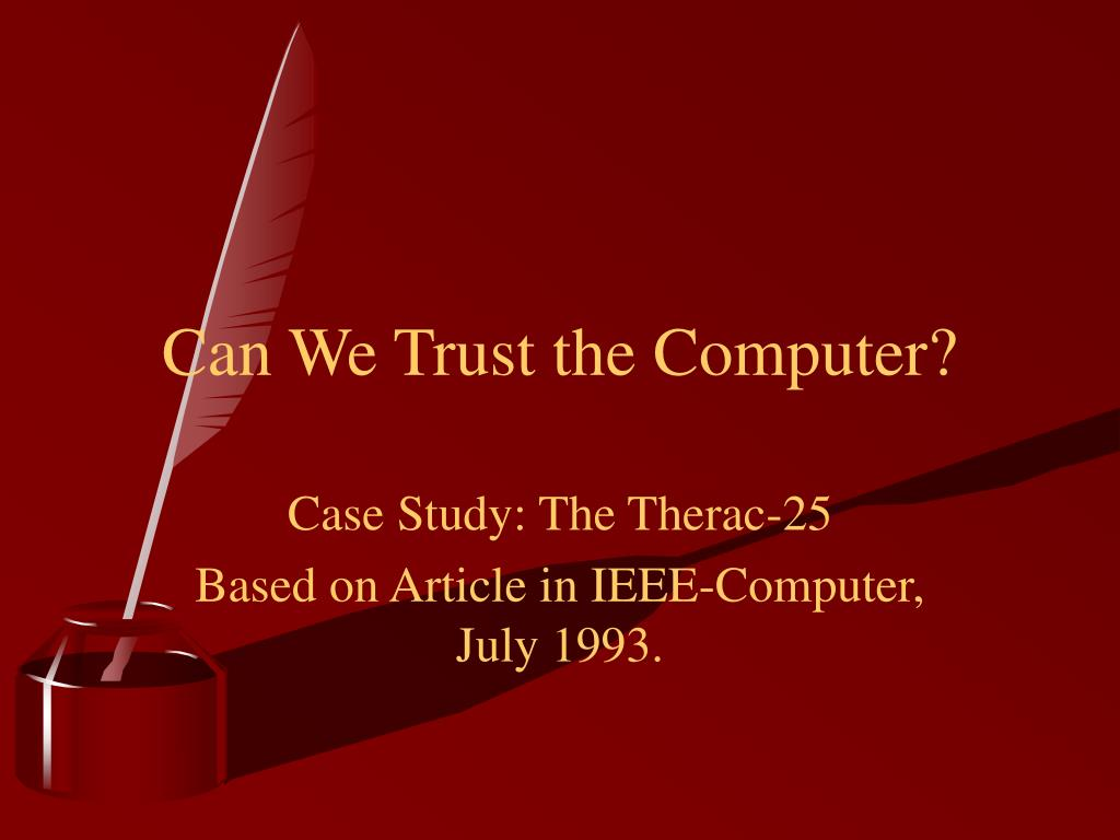 can we trust the computer l.