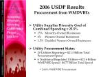 2006 usdp results procurement from wmdvbes