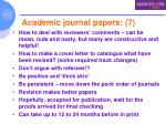 academic journal papers 7