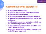 academic journal papers 8