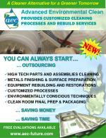 provides customized cleaning processes and rebuild services