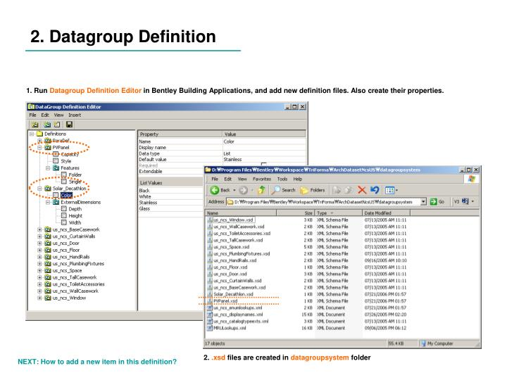 2. Datagroup Definition