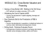 module 3 i cross border valuation and financing