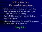 ms marketecture common misperceptions