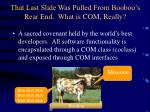 that last slide was pulled from booboo s rear end what is com really