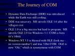 the journey of com