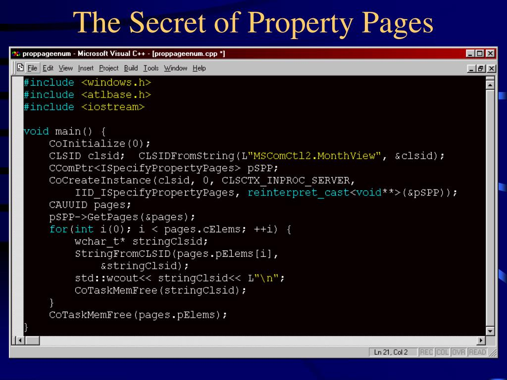The Secret of Property Pages