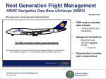 next generation flight management arinc navigation data base exchange ndbx