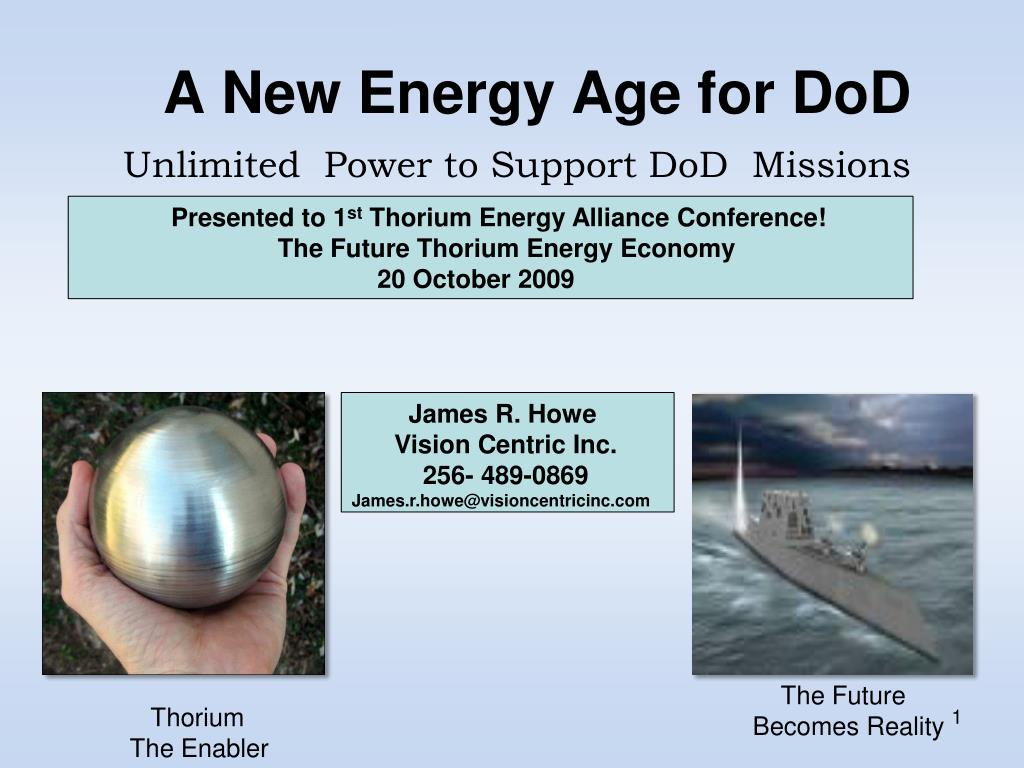 a new energy age for dod l.