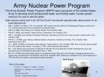 army nuclear power program