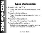 types of attestation
