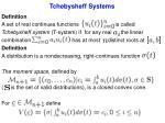 tchebysheff systems