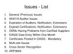 issues list