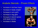 anabolic steroids proven effects