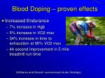 blood doping proven effects