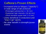 caffeine s proven effects