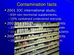 contamination facts
