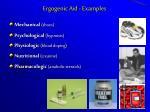 ergogenic aid examples