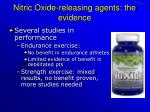 nitric oxide releasing agents the evidence