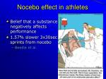 nocebo effect in athletes