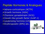 peptide hormones analogues