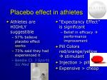 placebo effect in athletes