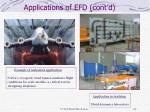 applications of efd cont d