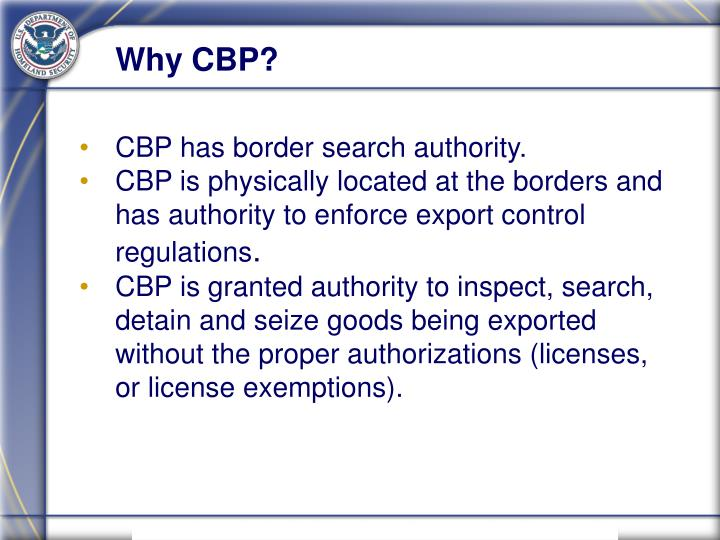 Why CBP?