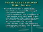 irish history and the growth of modern terrorism21
