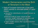 modern democracies and the birth of terrorism in the west4