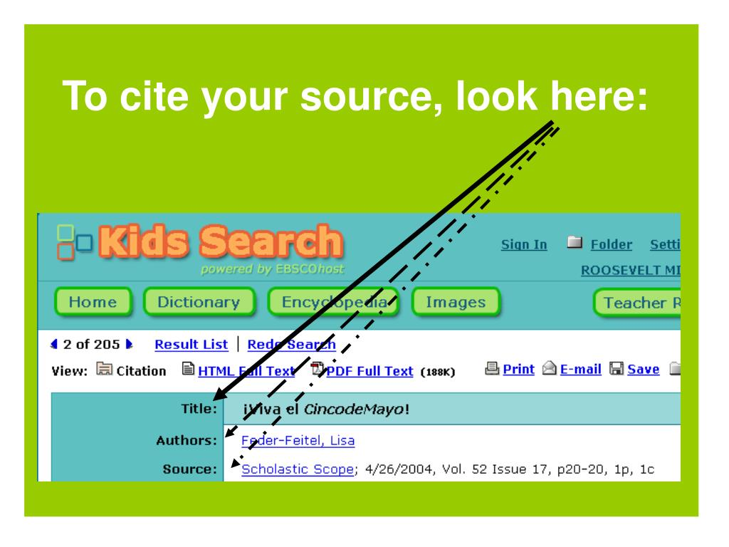 To cite your source, look here: