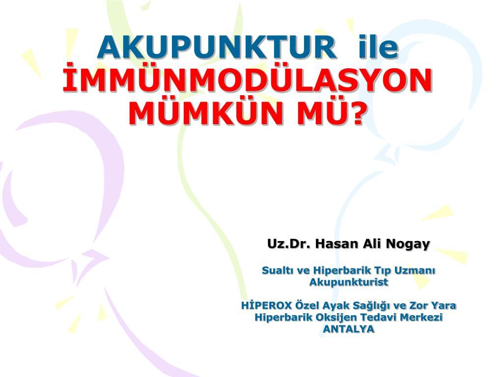 akupunktur ile mm nmod lasyon m mk n m l.