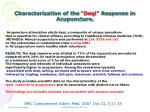 characterization of the deqi response in acupuncture