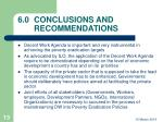 6 0 conclusions and recommendations