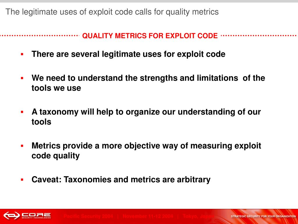 the need for quality metrics in
