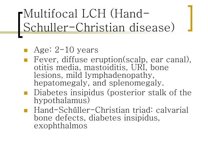 Multifocal LCH