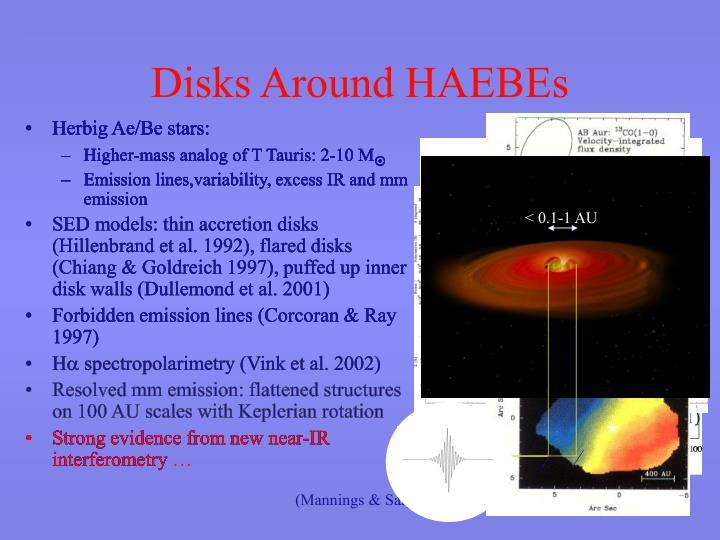 Disks around haebes