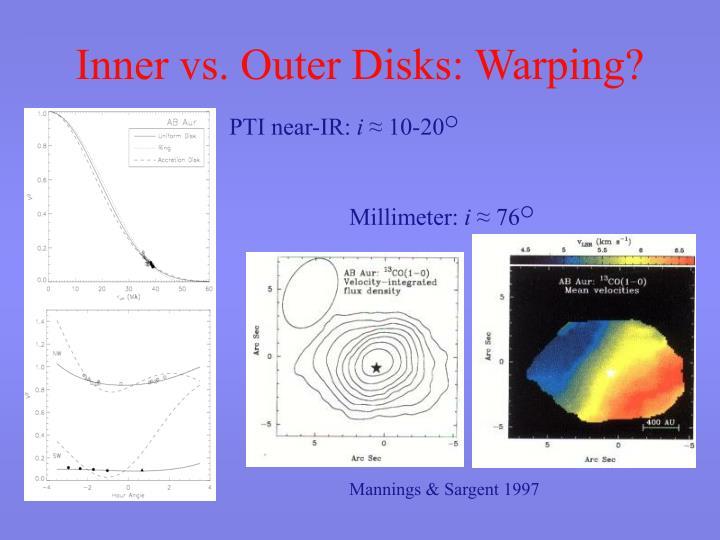 Inner vs. Outer Disks: Warping?