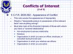 conflicts of interest 2 of 3