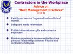 contractors in the workplace advice on best management practices 2 of 2
