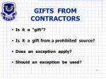 gifts from contractors
