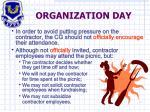 organization day1