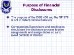 purpose of financial disclosures