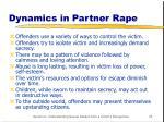 dynamics in partner rape