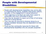 people with developmental disabilities