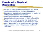 people with physical disabilities